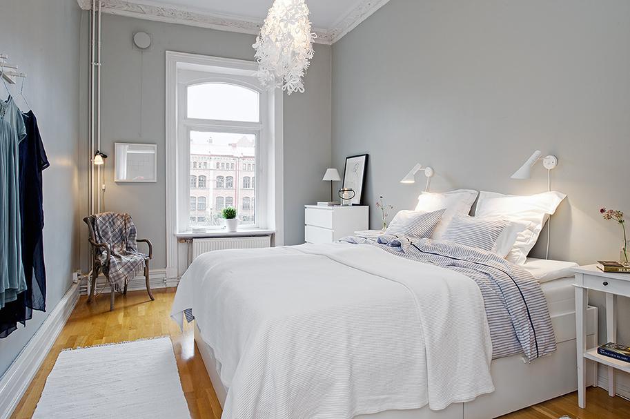 Makuuhuoneen sisustusyksityiskohtia all you need is white - Habitaciones nordicas ...